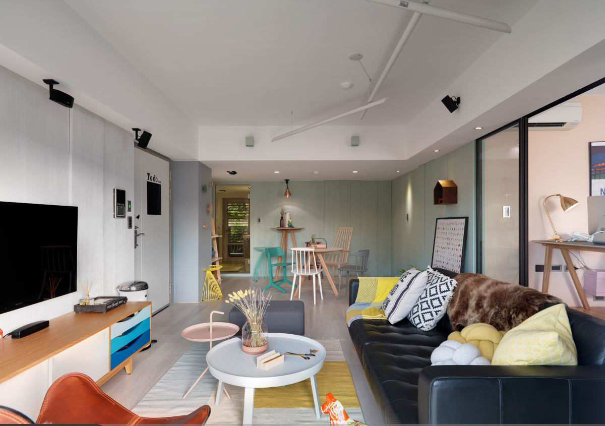 清新北欧风二居客厅装修设计效果图