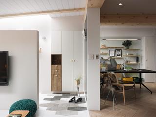 112平北欧风公寓装修鞋柜设计图