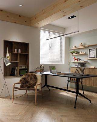 112平北欧风公寓装修休闲椅设计图