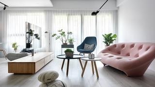 115㎡北欧风格三居装修窗帘图片