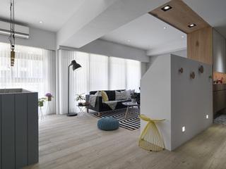 小户型个性北欧风装修客厅过道