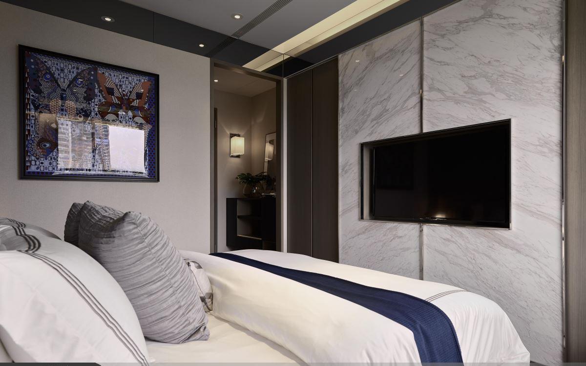 大户型现代风格家床品布置图