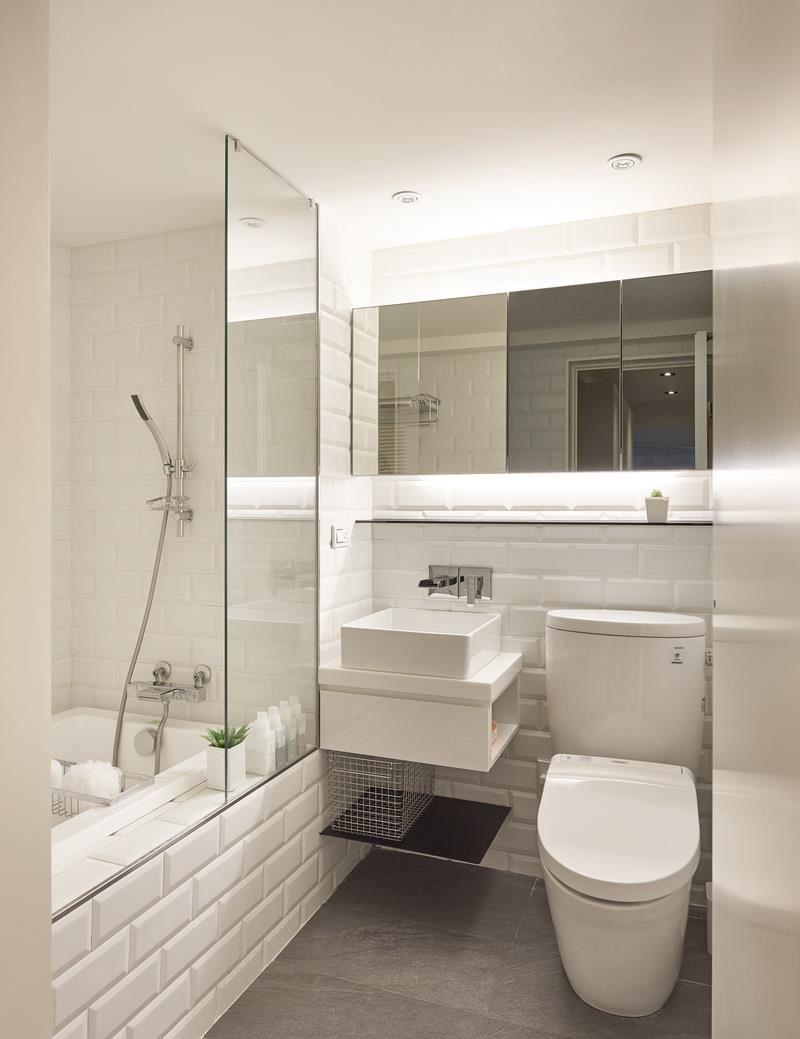 73平原木简约风二居装修浴缸设计图