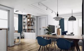 二居室北欧风格装修餐桌椅设计图