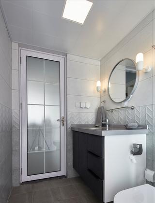 95平北欧风装修洗手台设计图