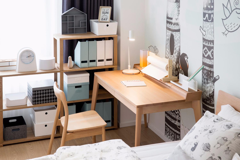 北欧风四房装修书桌设计图