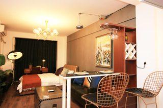 小户型复古现代风格装修吧台椅设计