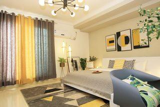 一居室北欧简约风公寓装修窗帘设计
