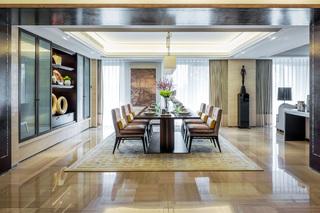大户型新中式四居餐厅装修效果图