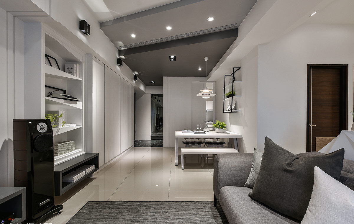 现代简约风格二居室餐厅装修效果图