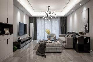 140㎡现代简约三居装修设计图