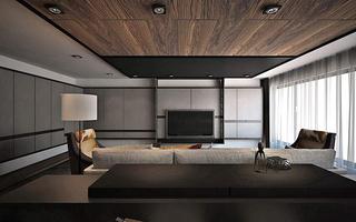 现代风格别墅装修吊顶设计效果图