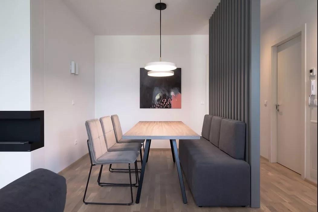 极简北欧风二居装修餐厅卡座效果图