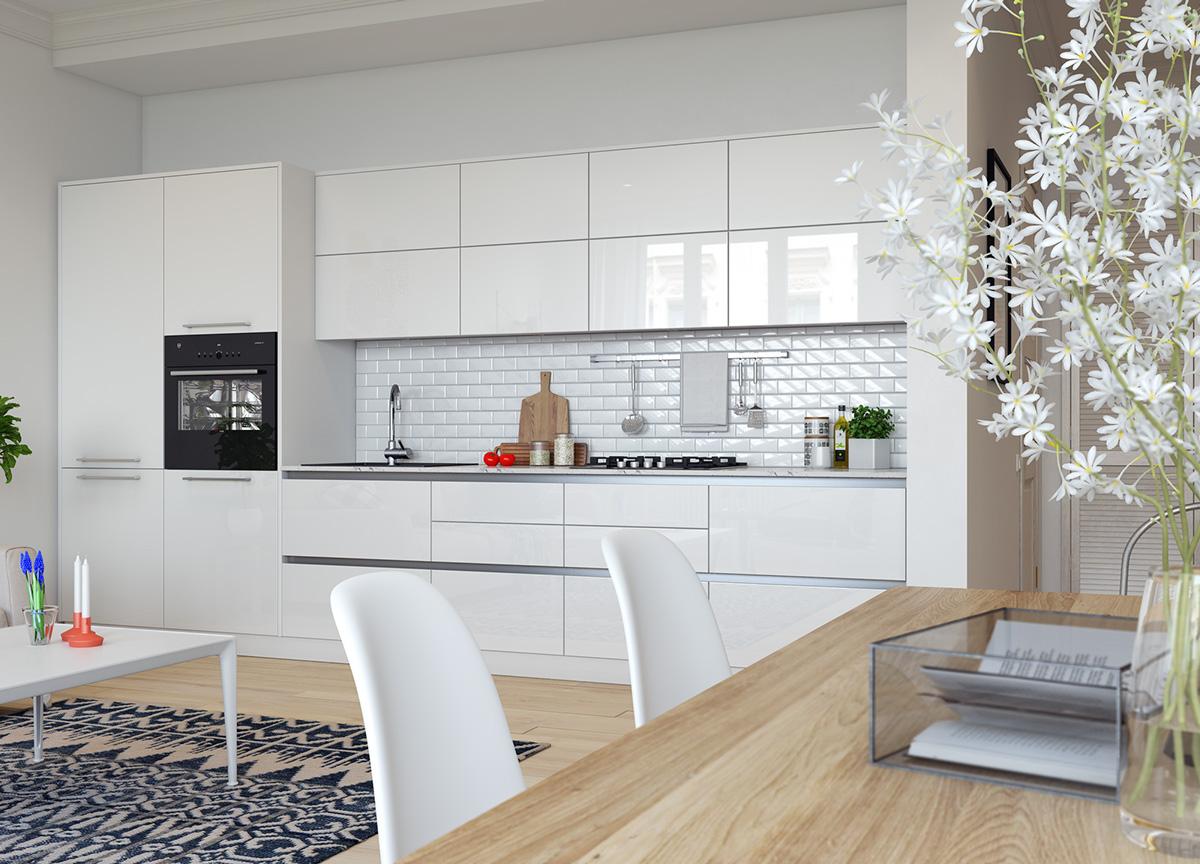 小户型一居室北欧风厨房装修效果图