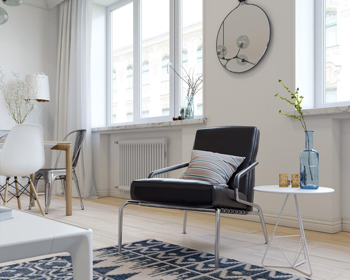 小户型一居室北欧风装修单人椅设计图