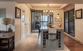 89㎡美式风格二居装修酒柜设计图