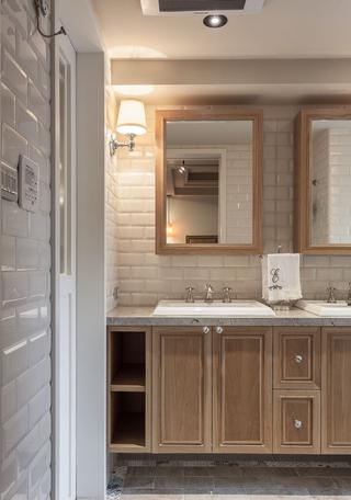 89㎡美式风格二居装修浴室柜设计图