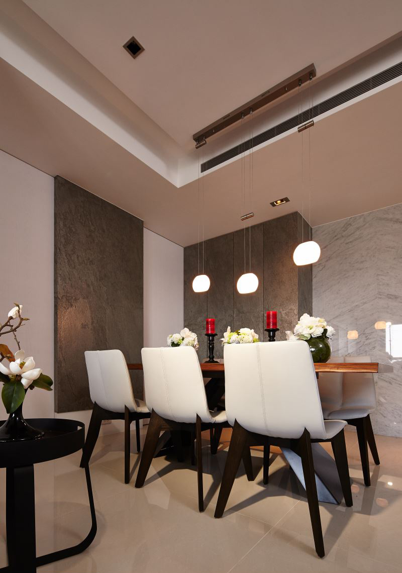 115平现代风三居餐厅吊顶装修效果图