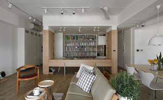简约北欧风格三居装修书架设计图