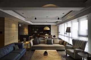 混搭风格三居室装修沙发布置图