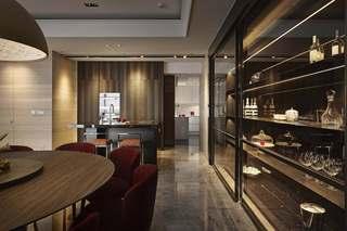 混搭风格三居室装修餐边柜设计图
