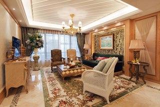 150平欧式风格三居装修吊顶设计图