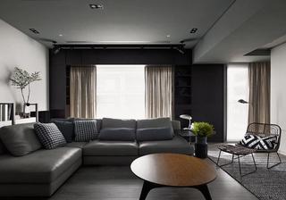 高级灰现代风格公寓装修效果图