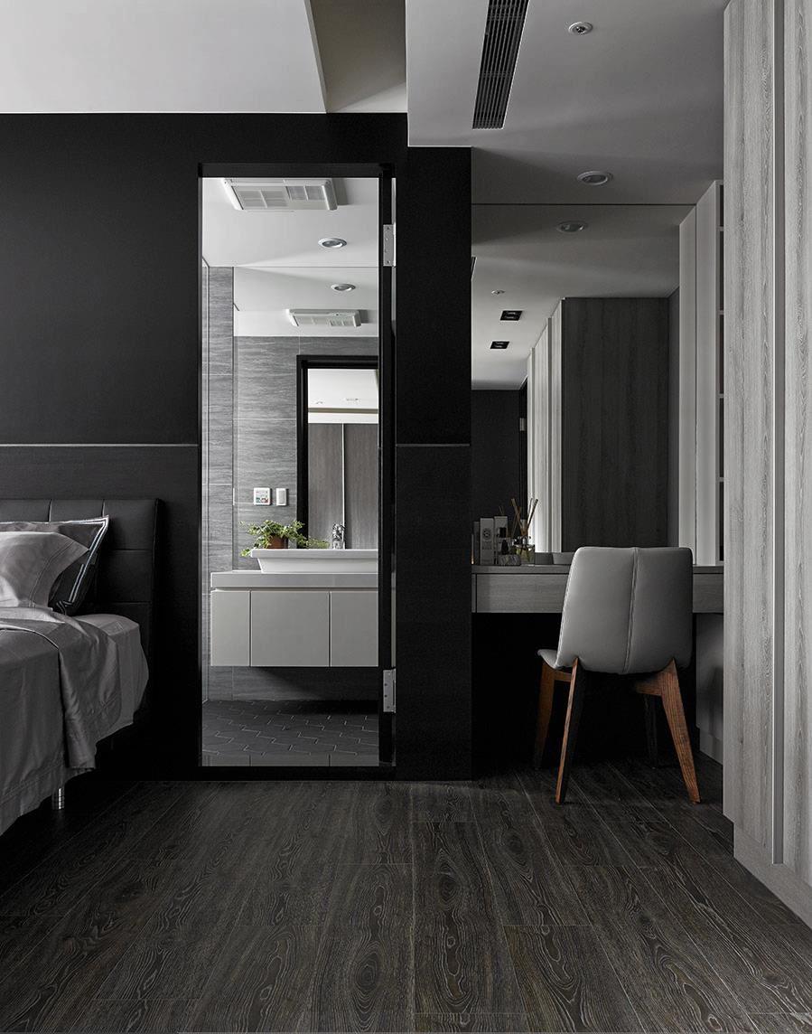 高级灰现代风格公寓装修梳妆台设计图
