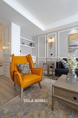 152㎡简约北欧三居装修单人沙发椅设计图