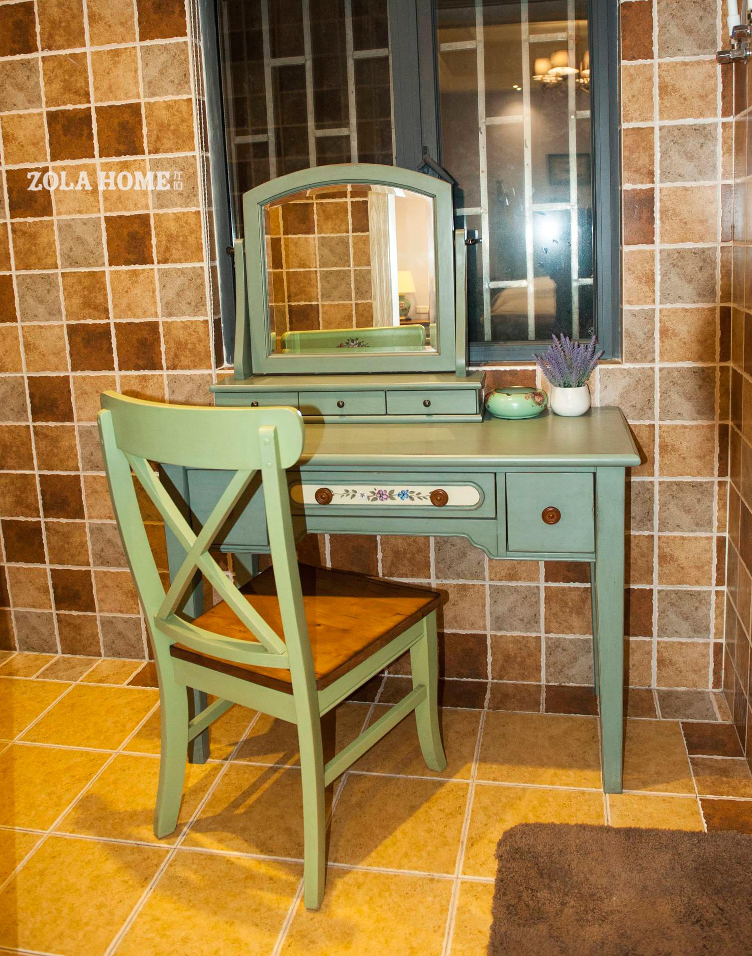 美式风格民宿装修梳妆台设计图