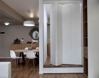 85平北欧风格两居装修折叠门设计图