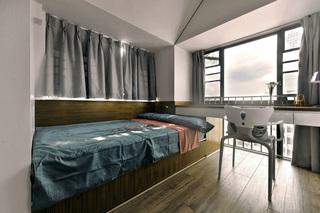 现代简约三居室装修榻榻米设计图