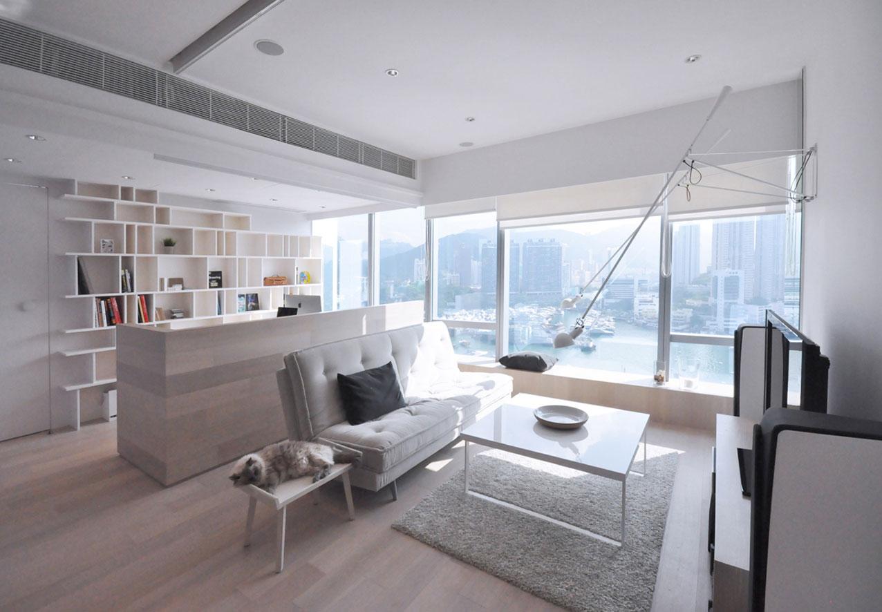 北欧简约风格一居室客厅装修效果图