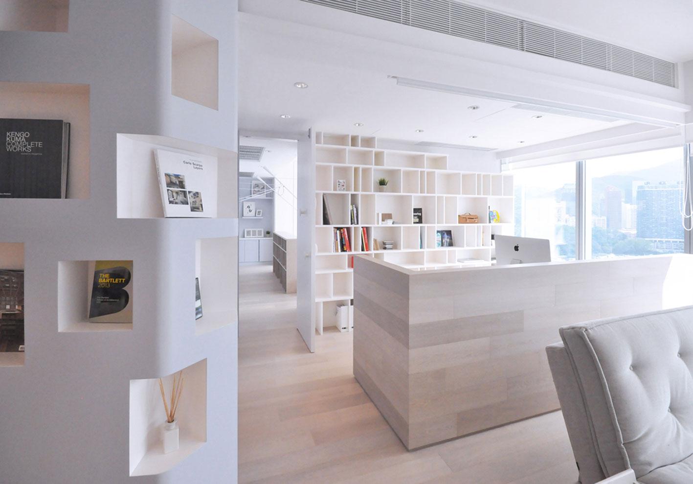 北欧简约风格一居室书房装修效果图