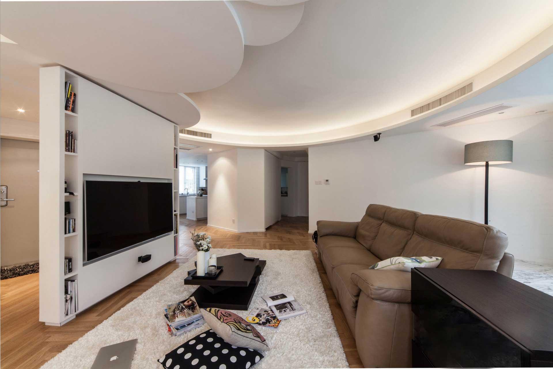 135平北欧风格三居客厅装修效果图
