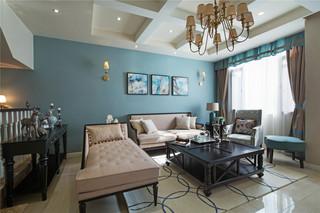 350平米美式别墅客厅装修效果图
