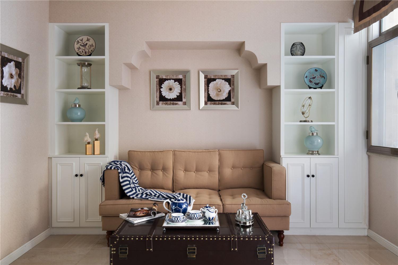 350平米美式别墅装修沙发背景墙造型图