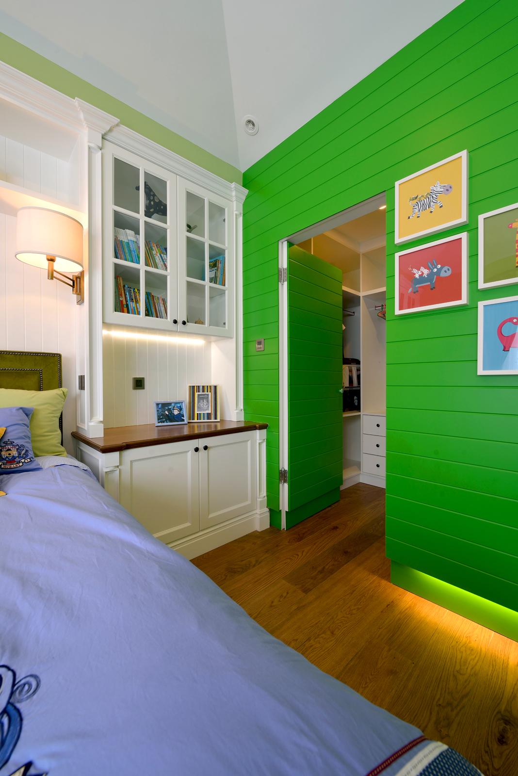 美式混搭风格别墅装修隐形门设计图