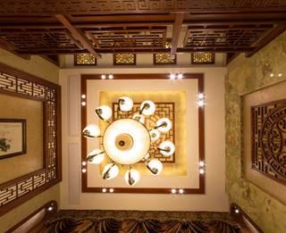 400平中式风格别墅客厅吊顶装修效果图