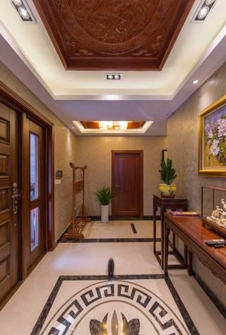 400平中式风格别墅玄关装修效果图