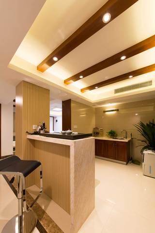 400平中式风格别墅装修吧台设计图