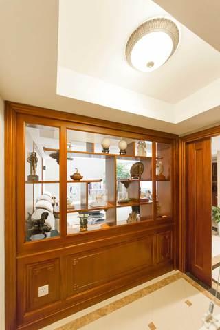 400平中式风格别墅装修博古架设计图