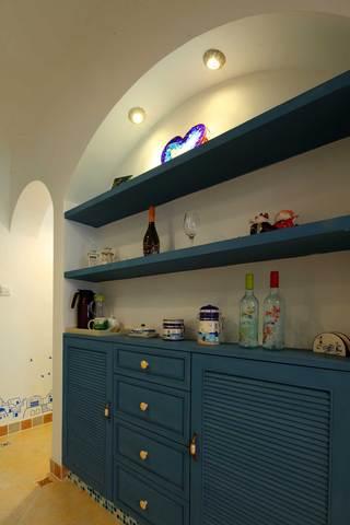 地中海风格二居室装修餐边柜效果图