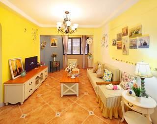 地中海田园混搭三居客厅装修效果图
