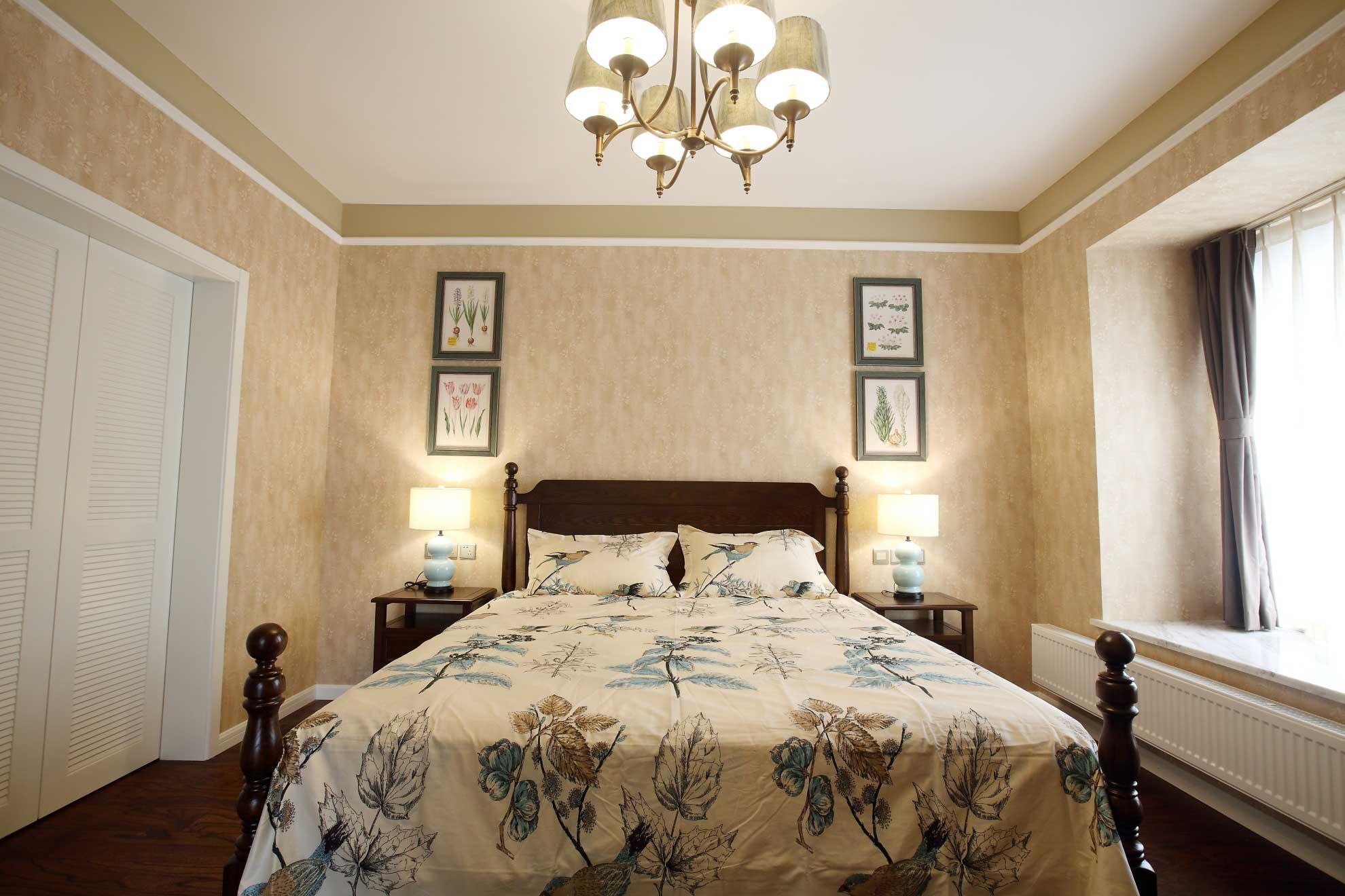 大户型美式乡村风格卧室装修效果图