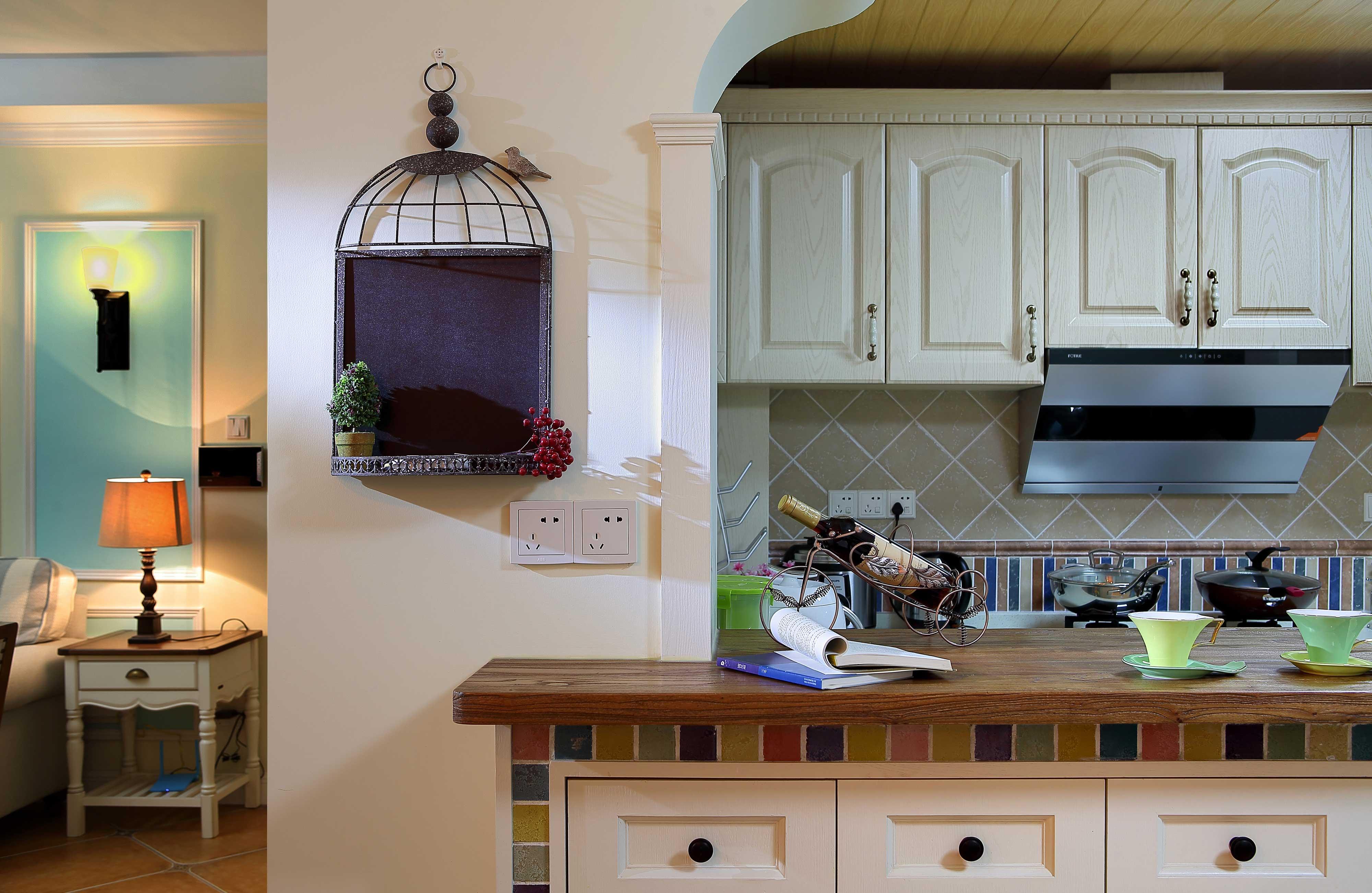 130平美式乡村风格装修厨房小景