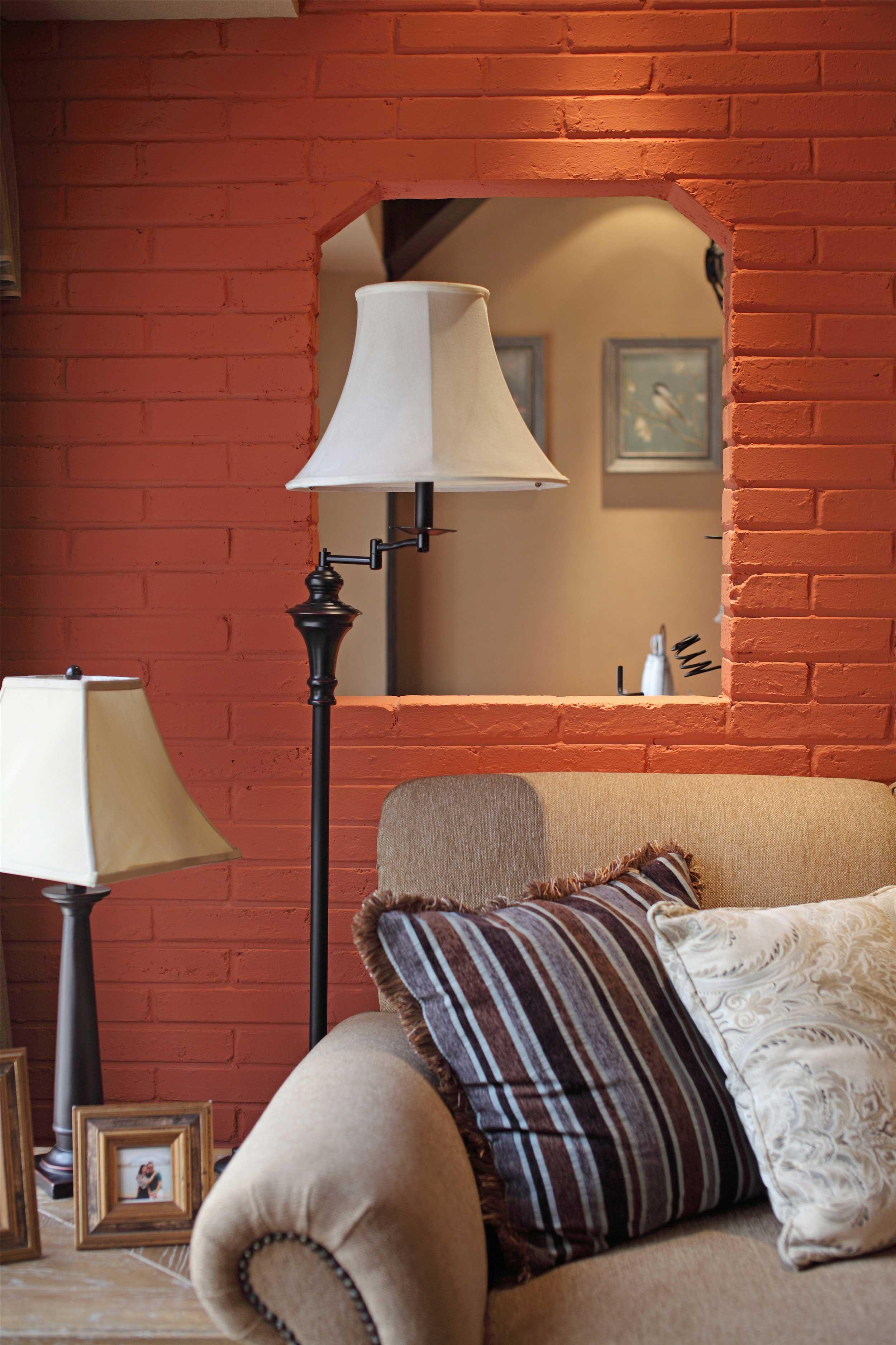 150平法式乡村风格装修落地灯设计图