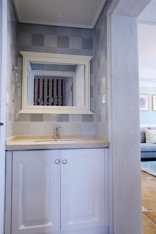 105平混搭风格三居装修洗手台设计图