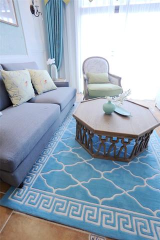 105平混搭风格三居装修地毯效果图