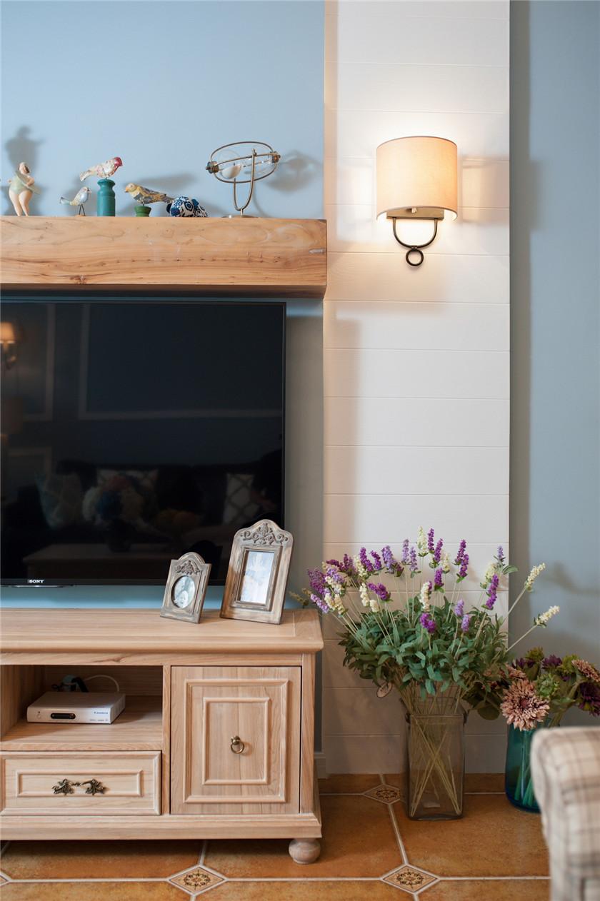 160㎡法式乡村风格装修电视柜设计图